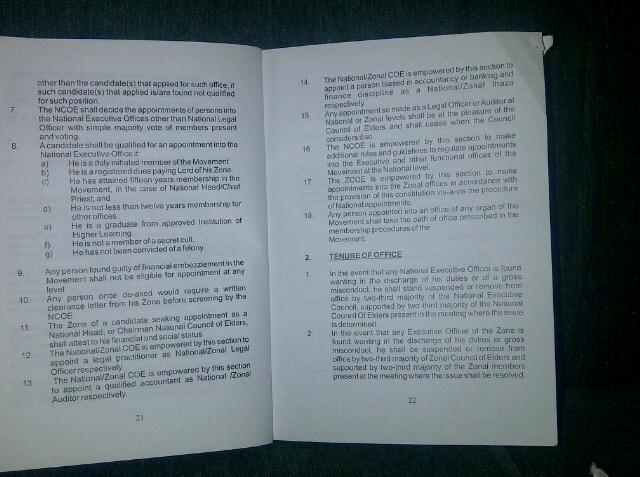 neo black movement constitution